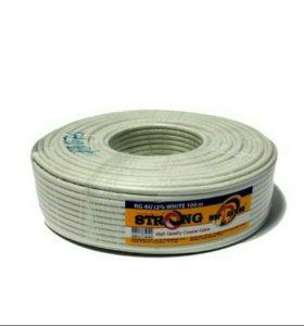 Коаксиальный кабель rg6 Strong