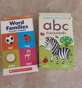 Карточки для занятий с детьми на английском