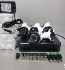 Комплект видеонаблюдения на 4 видеокамеры