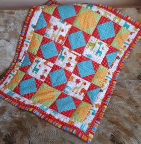 Детское лоскутное одеяло Жирафики