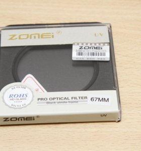 Фильтр Ультрафиолетовый Zomei UV 67мм новый