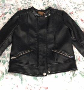 Женская кожаная байкерская куртка ZARA