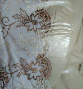 Постельное бельё 2 сп комплект шелк с шитьем