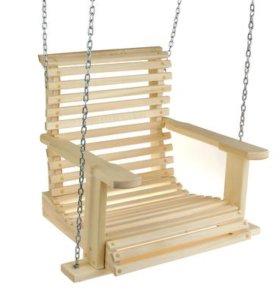 Качель подвесная, деревянная 70х65х50см