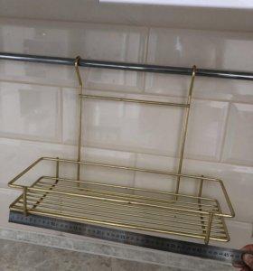 Навесная полка для кухни, золотой цвет