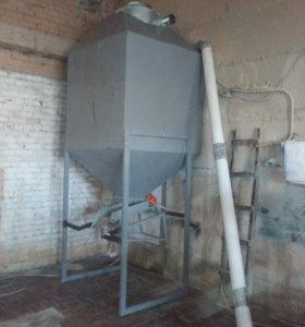 Колонна охлаждения гранул (кормовых, топливных)