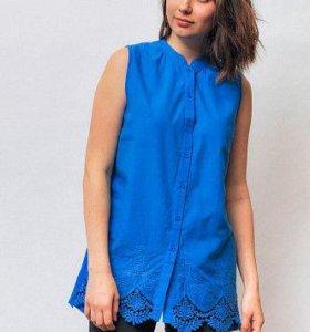 Блузка женская с кружевной отделкой