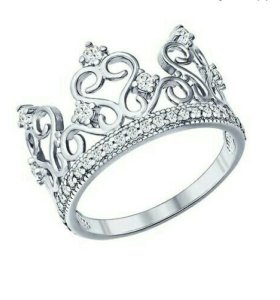 Серебряное кольцо 'Sokolov' с фианитами
