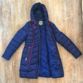 Зимняя теплая длинная куртка