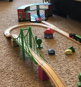 Набор деревянной железной дороги