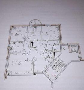 Квартира, 4 комнаты, 114 м²