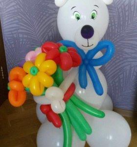 Цветы и фигурки из шаров