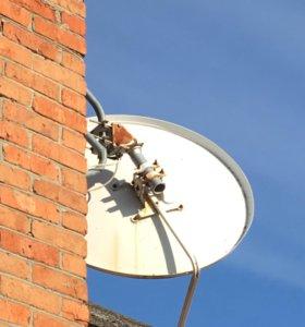 Спутниковая антена с поворотным механизмом