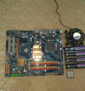 GA ep45 ds3 +Xeon x5450 + оперативная память ddr2
