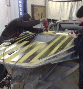 Ремонт алюминиевых лодок и катеров