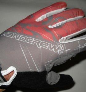 Велоперчатки гелевые полный палец новые