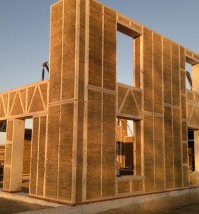 Производство соломенных панелей для Экко Домов