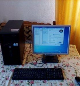 Компьютер 2-ядерный с монитором