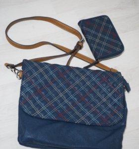 сумка через плечо + маленький кошелек