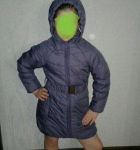 Куртка-пальто осень для девочки 134
