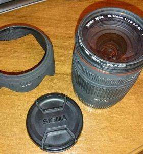 Объектив Sigma 18-200 для Canon