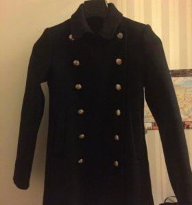 Чёрное женское пальто Zara Women XS