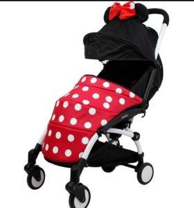 Чехол на ноги для коляски YoYa, Baby Time красный