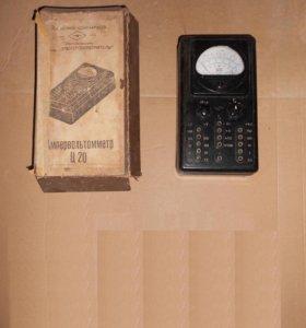 Электроизмерительный прибор ампервольтметр Ц 20