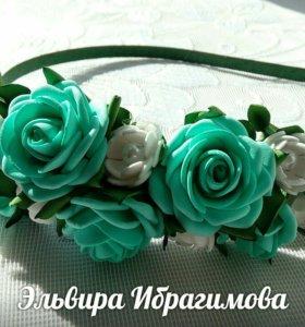 Ободочек с розами