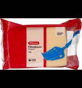 Вкусный, свежайший полутвёрдый сыр из Финляндии