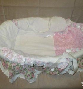 Люлька переноска и вставка в детскую кровать