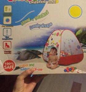 Детская палатка с шариками новая.