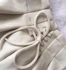 Новые замшевые шорты