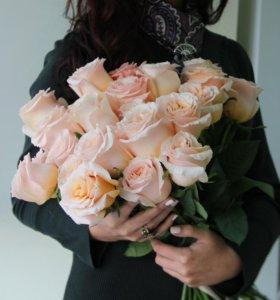 Цветы. Букет. Нежная роза Шиммер.