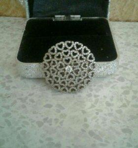Кулон серебро с позолотой