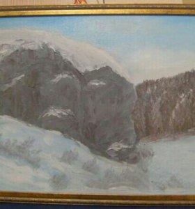 """Картина """" Скала на реке Ирбит"""" Размер 35х50"""
