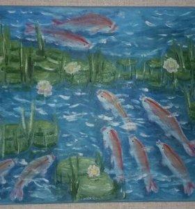 Картина ''Рыбки'' в китайском стиле
