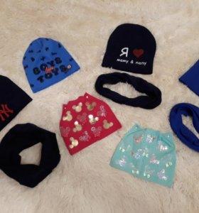 Комплект шапка+ снуд новые