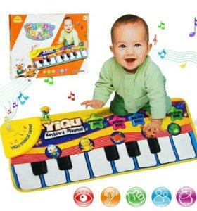 Музыкальный коврик пианино