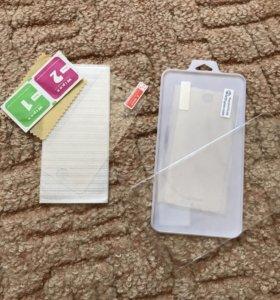 Плёнка и Защитное стекло на айфон 5s