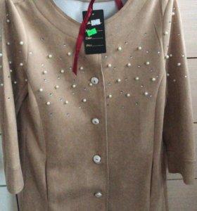 Пиджак из искусственного велюра