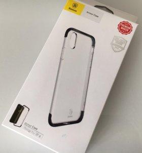 Чехол + стекло Baseus для iPhone X