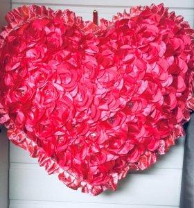 Большое сердце-подушка НОВОЕ