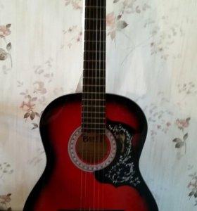 Фирменная гитара в комплекте с чехлом.