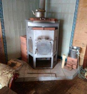 Печь буржуйка камин на дровах в дом на дачу гараж
