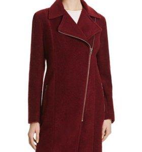 Новое шерстяное дизайнерское пальто куртка XS 42