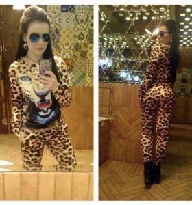Обалденный леопардовый костюм