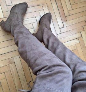 Ботфорты, сапоги выше колен, сапоги чулки, 38р