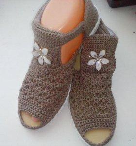 Вязаная обувь на заказ