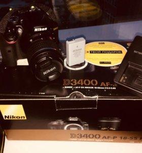 Зеркальная камера Nikon D3400